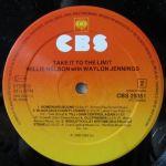 Willie Nelson Take It To The Limit Etichetta Lato 2