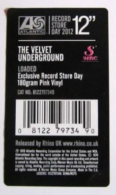 "Velvet Underground, Lou Reed, rhino, record store day, lp, 12"""
