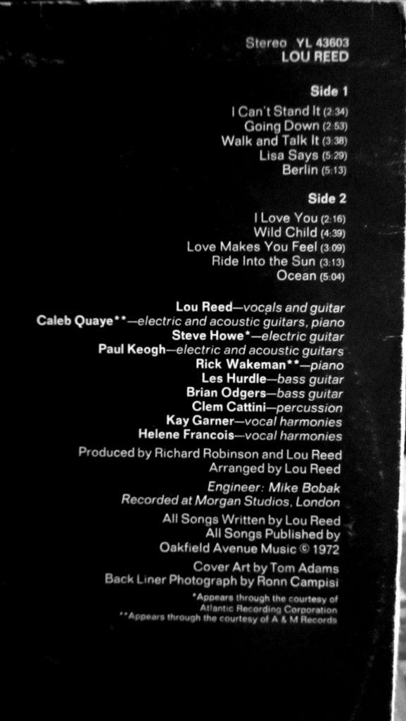 Lou Reed Vinyl