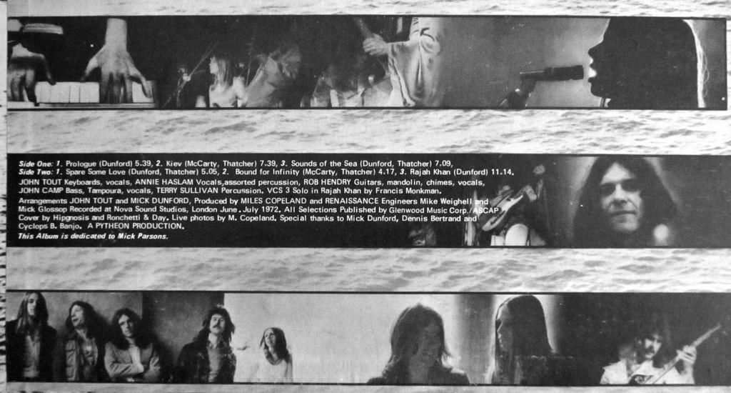 Renaissance credits, tracklist and artists, LP Vinyl