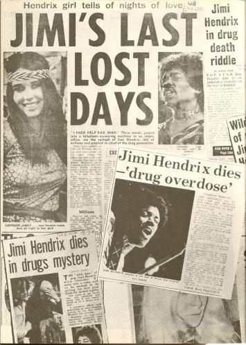 press cutting, article, jimi's death