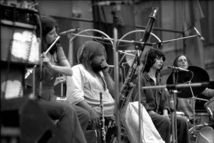 Henry Cow and Robert Wyatt in rome a piazza navona nel 1975