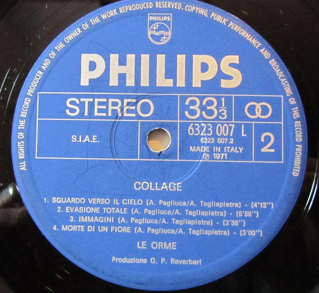 philips, copertina vinile