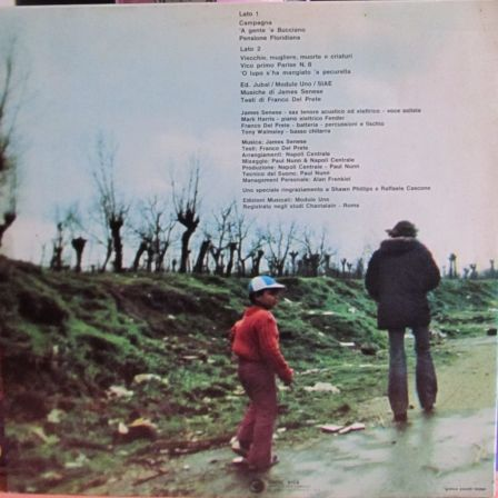 Copertina disco di James senese, Lp 33 giri