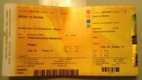 Atom in rome, auditorium conciliazione, 9 febbraio 2013