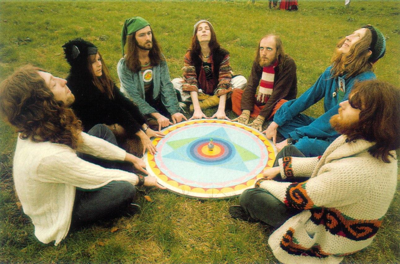 Gong in 1974 on grass daevid allen steve hillage