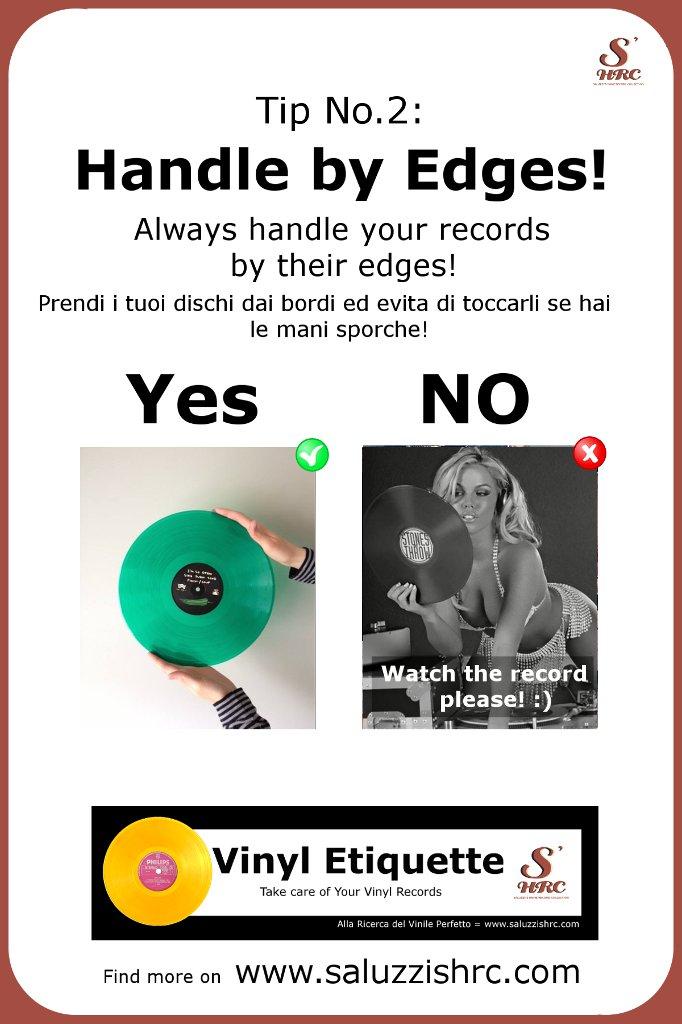 Vinyl Etiquette Manutenzione Vinile Handle by Edges