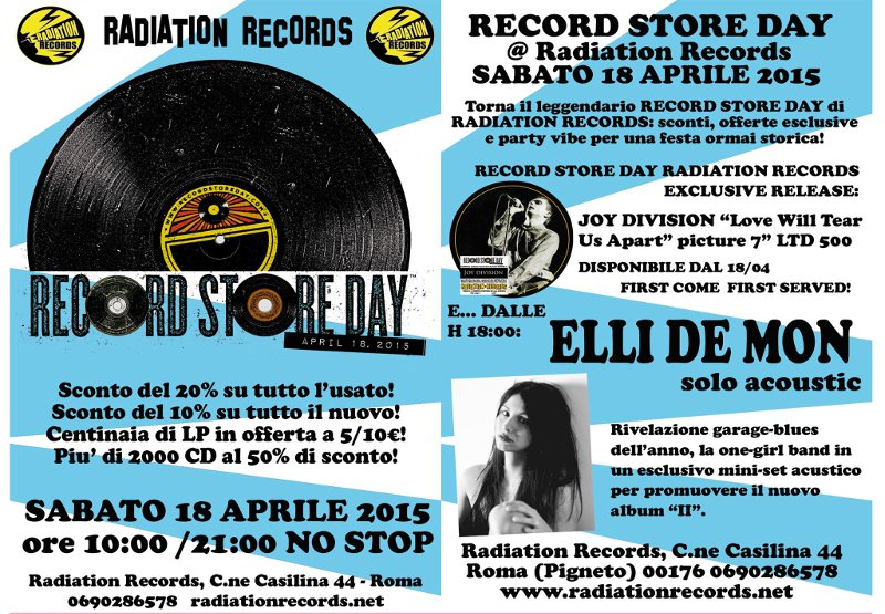 Record Store Day 2015: Eventi a ROMA (2/6)