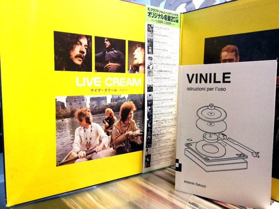 Libro sul vinile e LP dei Cream Live