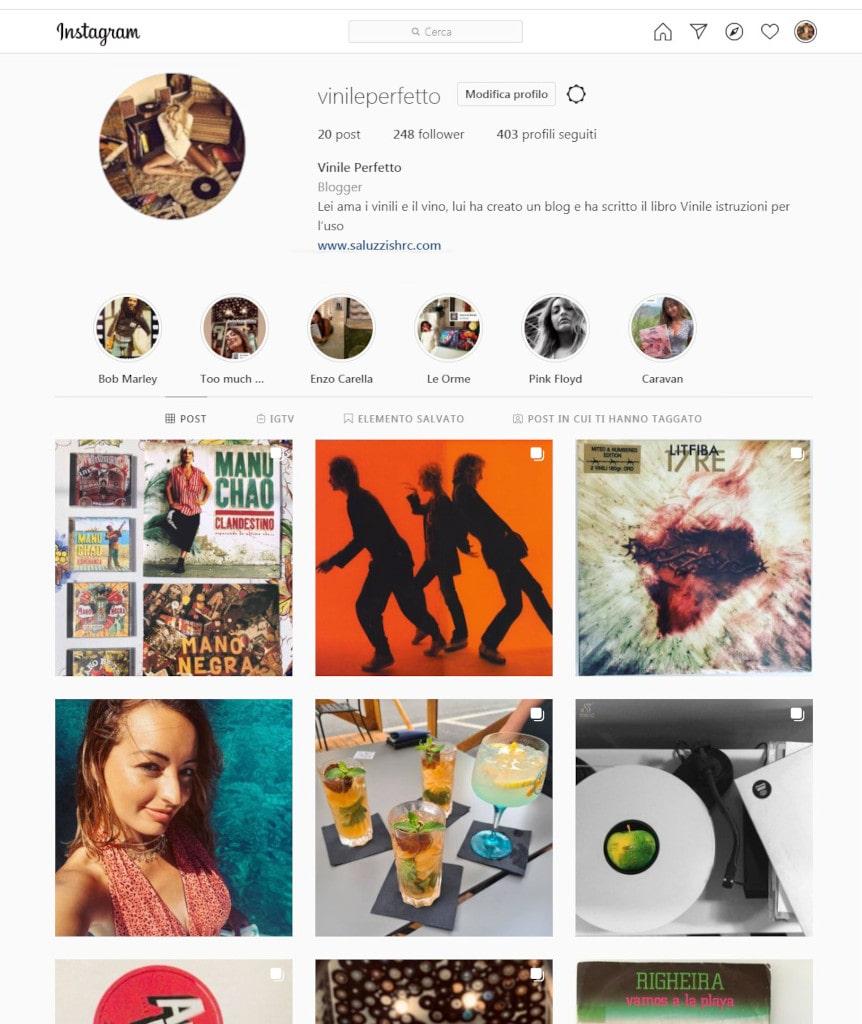 Instagram Vinile Perfetto Profilo