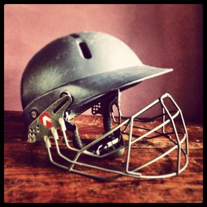 cricket helmet before