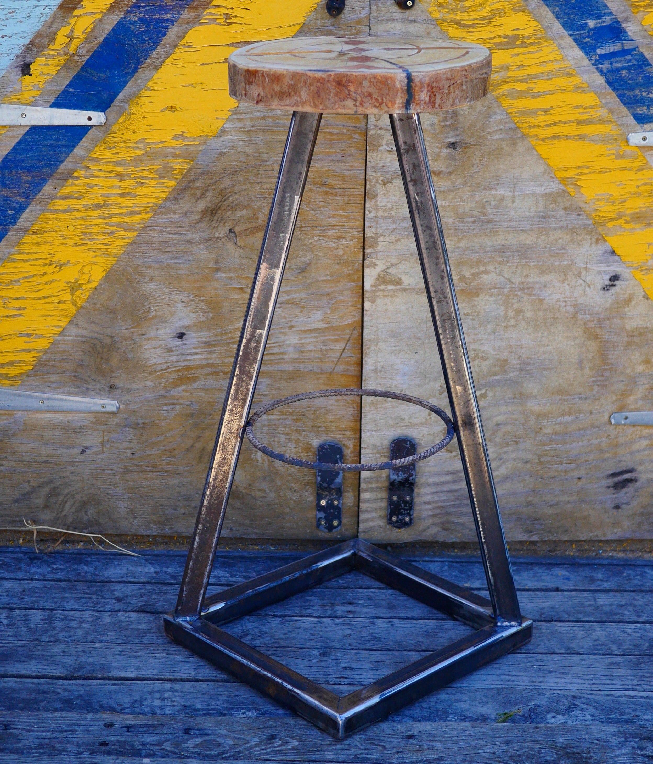 heavy duty steel bar stool