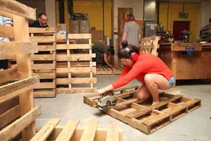 Learn how to make a pallet planter