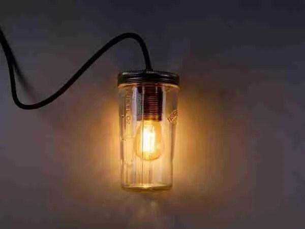Make any jar into a lamp