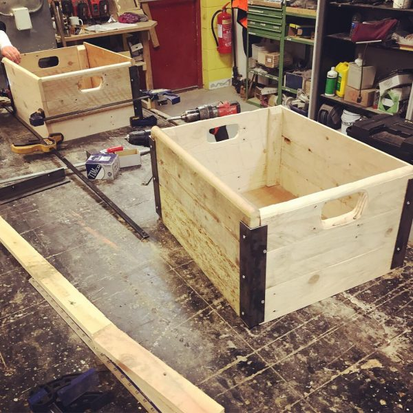 making wooden boxes with reclaimed wood
