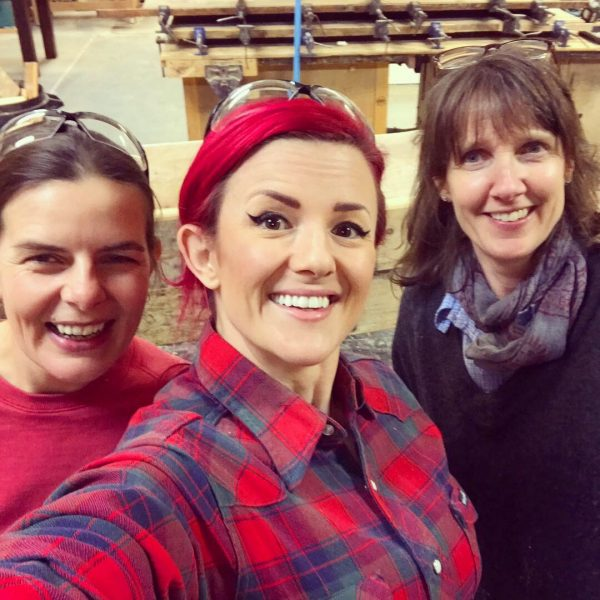 Silly selfie with my students after our woodworking class