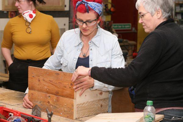 Making a wooden box workshop