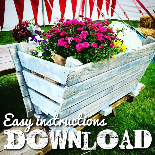 Easy step by step make a planter from pallets tutorial download