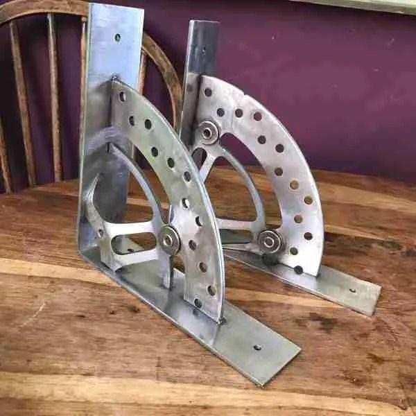 motorcycle break disk shelf brackets