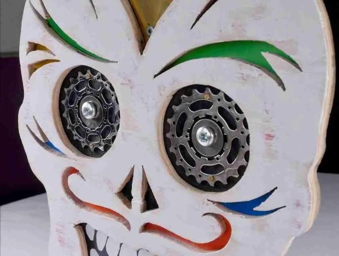 upcycled sugar skull