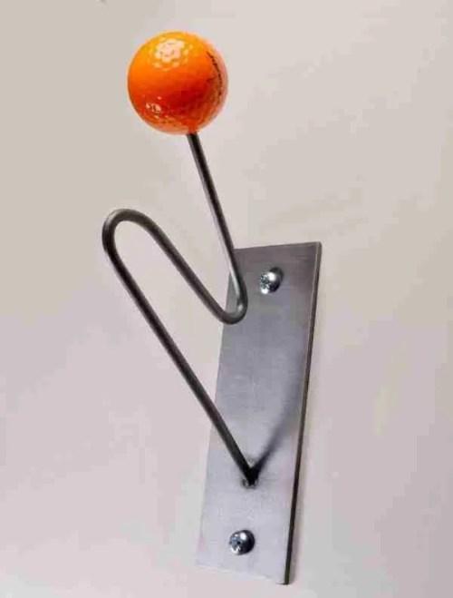orange golf lovers coat hooks