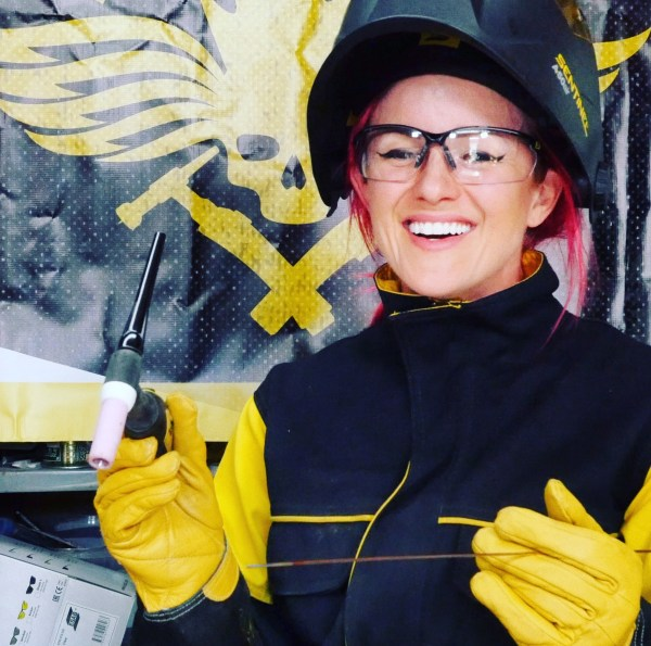Charis Williams The Salvage Sister welder