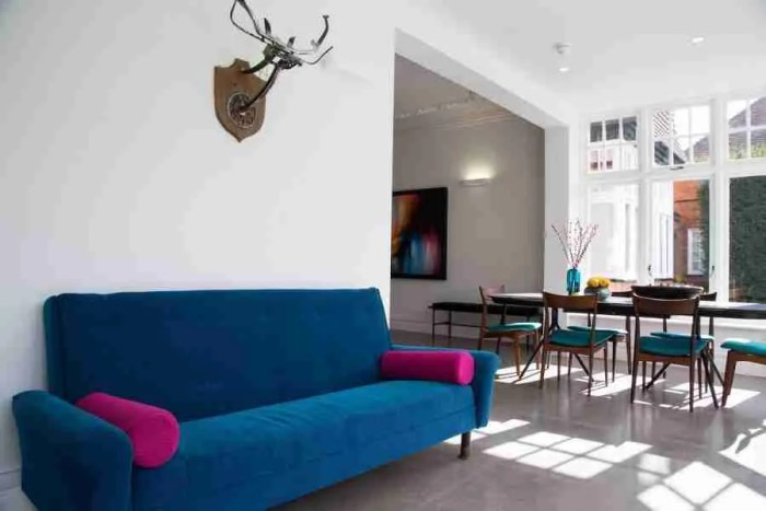 stag head wall art on Old House new home on channel 4 George Clarke