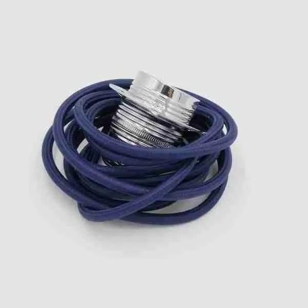 navy blue fabric flex with chrome lampholder