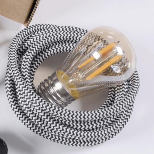ST45 amber glow 4watt E27 screw in light bulb