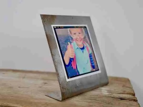 simple steel photo frame