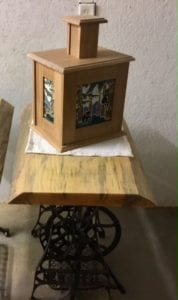 Handmade lamp and table