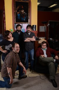 The Salvation Alley String Band (l-r Brandee Simone, Andy Goulet, Matt Jugenheimer, Matt Silberstein, Ryan Quinn)
