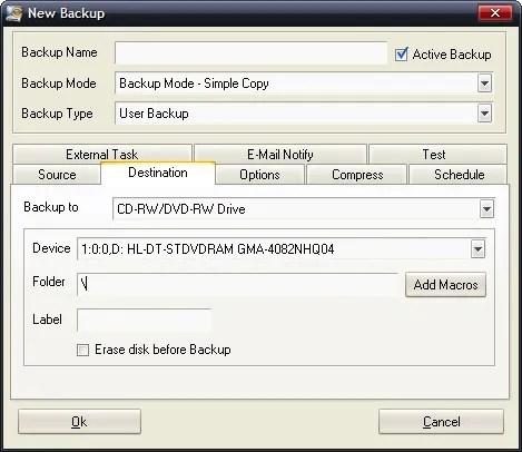 Backup con Comodo Backup