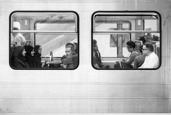 Commuters in Brussels
