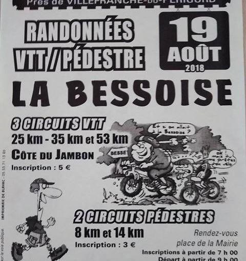 Rando VTT La Bessoise 19/08/18