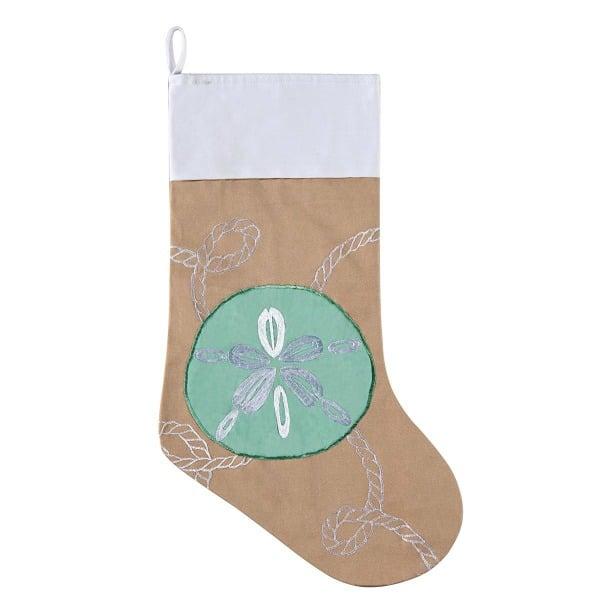 sand dollar christmas stocking