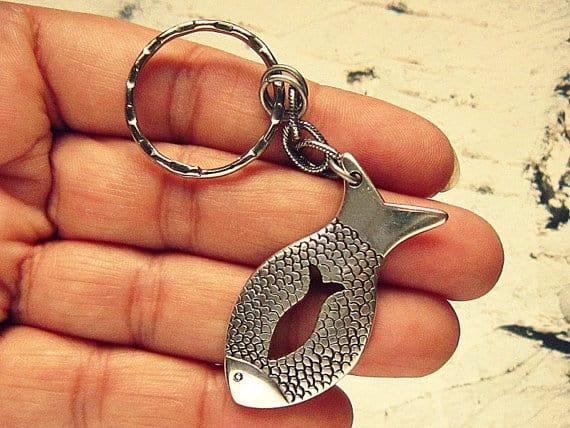 fish keychain