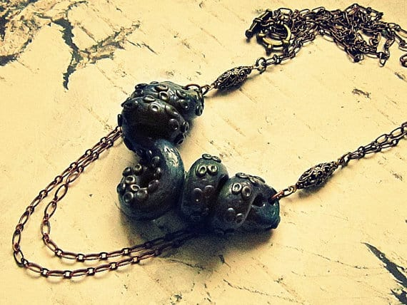 statement tentacle necklace