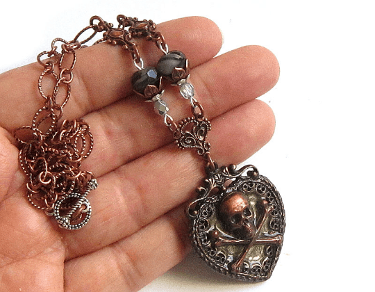 pirate heart necklaces
