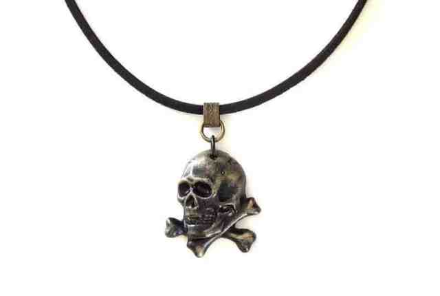 pirate skull necklace gift for him