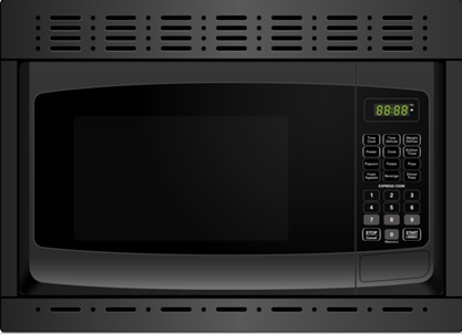 franklin chef built in microwave oven 120v cul black with