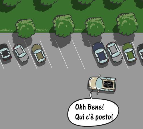 Se parcheggi bloccando le altre auto commetti reato
