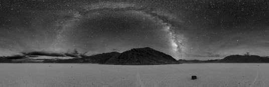 Dark sky over death valley