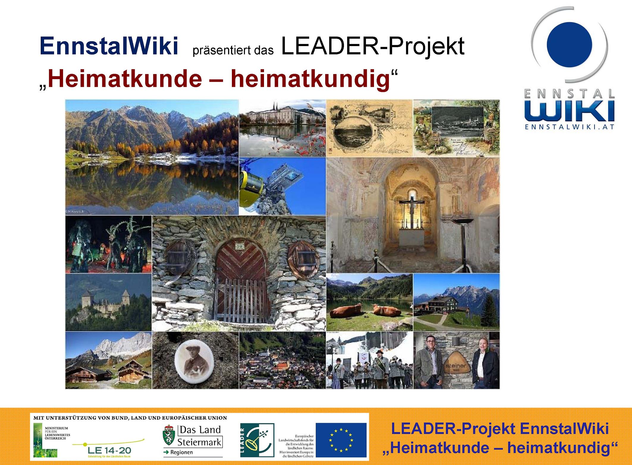 "Präsentation des Leader-Projekts ""Heimatkunde – Heimatkundig"" des EnnstalWiki"