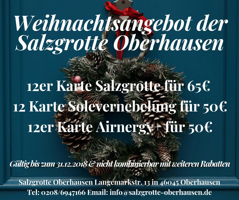 X-mas Sale 2018 der Salzgrotte Oberhausen