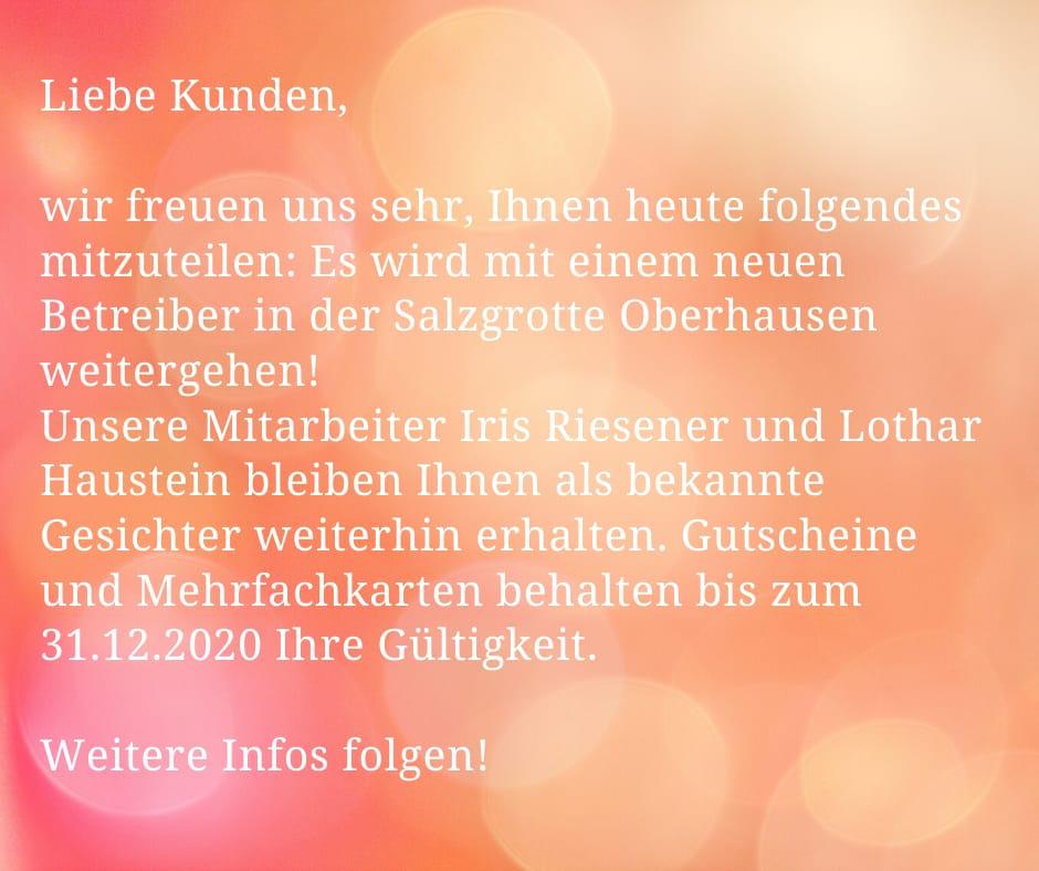 Übernahme Salzgrotte Oberhausen
