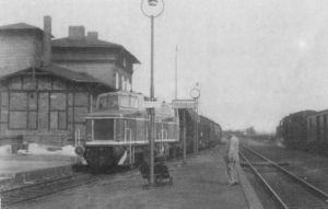 Bahnhof Voldagsen 1965