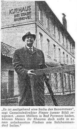 Bürgermeister Pieper 1963