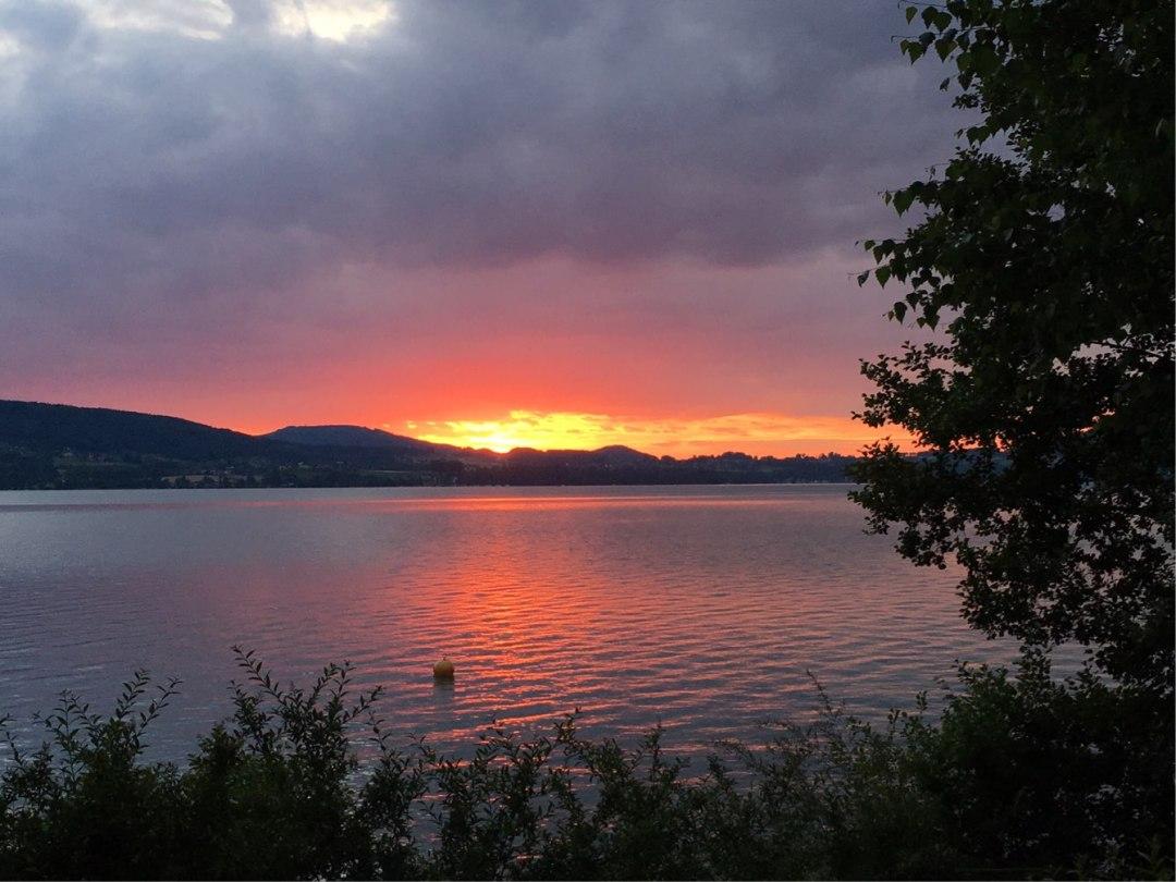 Sonnenuntergang am Attersee