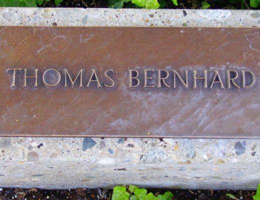 Grabstein Thomas Bernhard Friedhof Grinzing, von Walter Anton